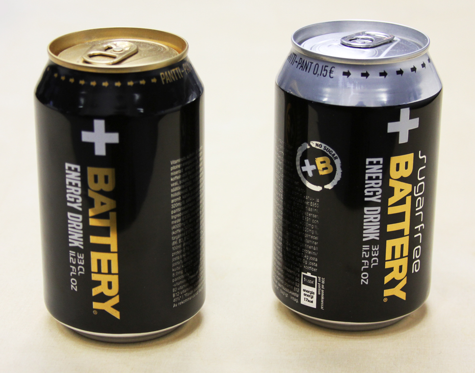 Energy Drink Battery Cans